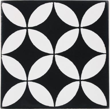 Prisme Black & White Terra Nova Mediterraneo Ceramic Tile