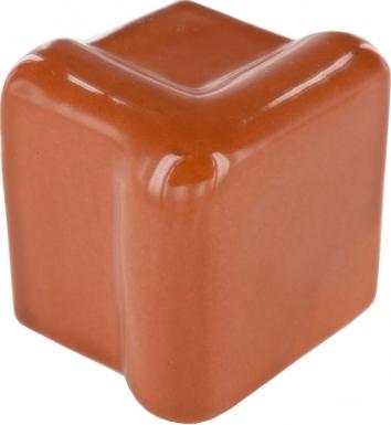 V-Cap Rail Corner: Rust - Terra Nova Mediterraneo Ceramic Tile