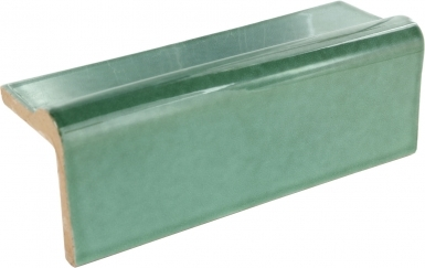 V-Cap Rail: Light Green - Terra Nova Mediterraneo Ceramic Tile