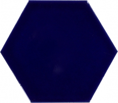 Cobalt Blue - Talavera Hexagonal Ceramic Tile