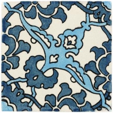 Quarter Bedonia Teal Handmade Siena Vetro Ceramic Tile