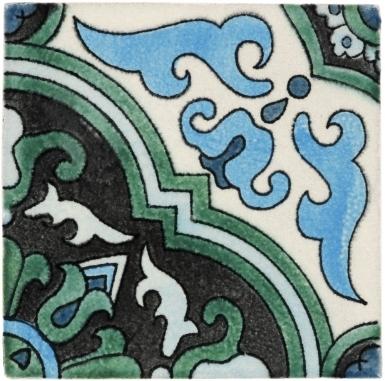 Quarter Algaba 3 Handmade Siena Vetro Ceramic Tile