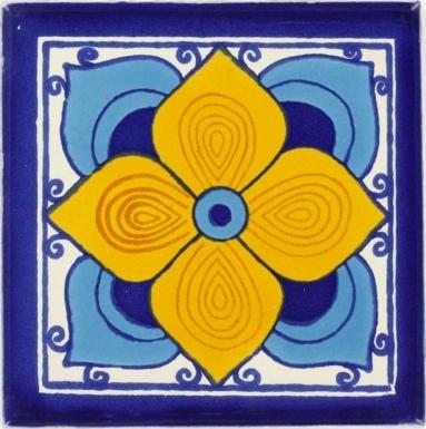 Turquoise Flor Sevillana Dolcer Ceramic Tile