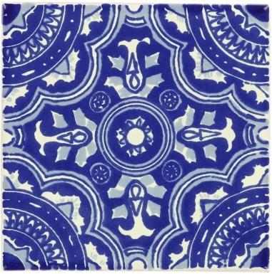 Royal Blue & White Dolcer Ceramic Tile