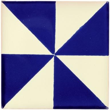 San Lucas White & Cobalt Dolcer Ceramic Tile