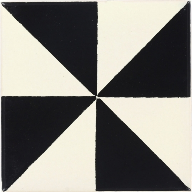 San Lucas Black & White Dolcer Ceramic Tile