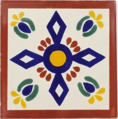 San Angel Sevilla Handmade Ceramic Floor Tile