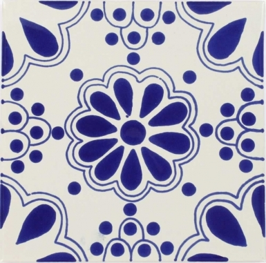 Blue Lace Sevilla Handmade Ceramic Floor Tile