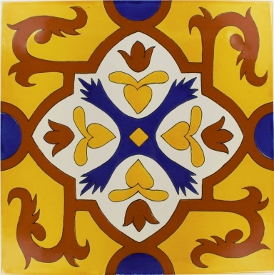 Queretaro 1 Sevilla Handmade Ceramic Floor Tile