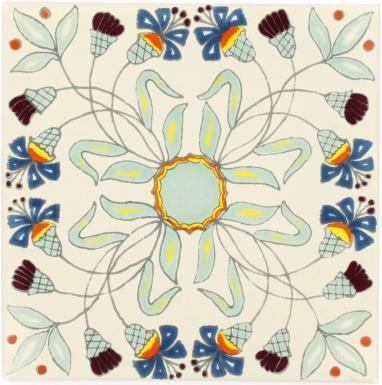 Fiore Sevilla Handmade Ceramic Floor Tile