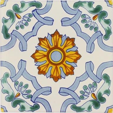 Santa Teresa 2 Sevilla Handmade Ceramic Floor Tile
