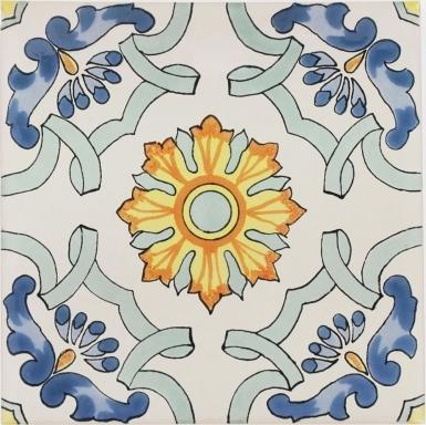 Santa Teresa Sevilla Handmade Ceramic Floor Tile