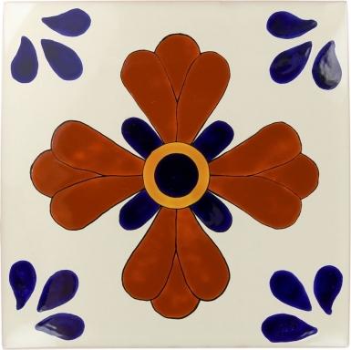 Blue Seville Sevilla Handmade Ceramic Floor Tile