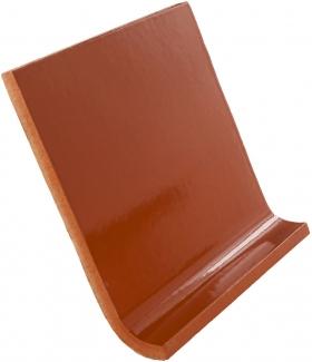 6x6 Cove Base: Saddle Brown - Dolcer Ceramic Tile