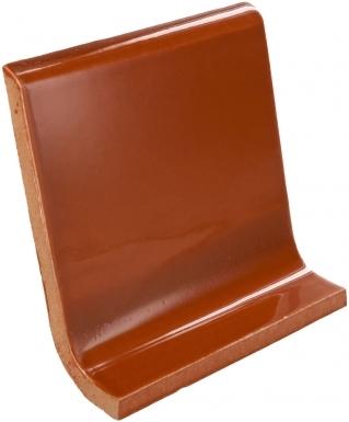 Cove Base Round Top: Saddle Brown - Dolcer Ceramic Tile