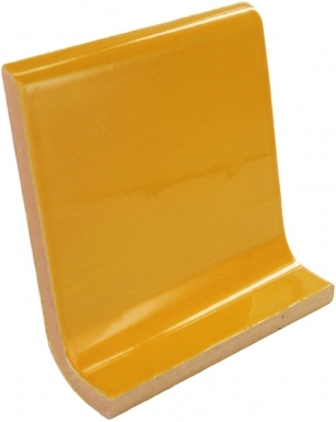Cove Base Round Top: Yellow Ochre - Dolcer Ceramic Tile