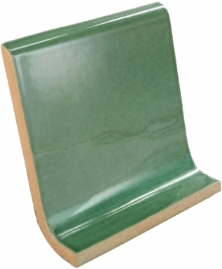 Cove Base Round Top: Hunter Green - Dolcer Ceramic Tile