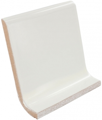 Cove Base Round Top: Ivory - Dolcer Ceramic Tile