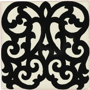 Suzzara Black & White Dolcer Ceramic Tile
