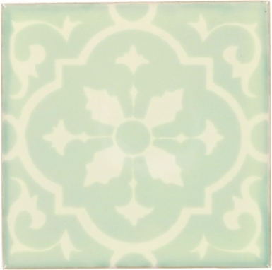 Amria White & Mint Dolcer Ceramic Tile