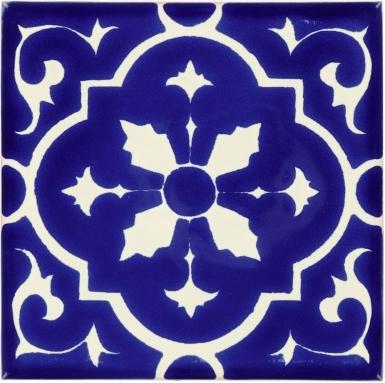 Amria White & Blue Dolcer Ceramic Tile