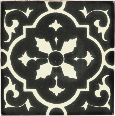 Amria Black & White Dolcer Ceramic Tile