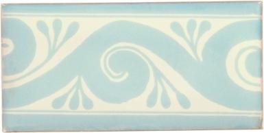 Ola Pearl Aqua Border Dolcer Ceramic Tile