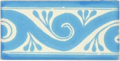 Ola Turquoise Border Dolcer Ceramic Tile