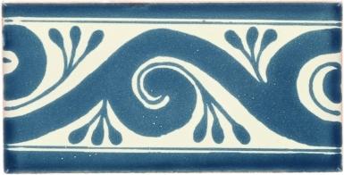 Ola Teal Border Dolcer Ceramic Tile