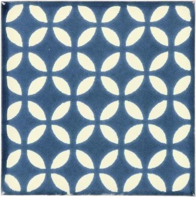 Blue Petals Dolcer Ceramic Tile