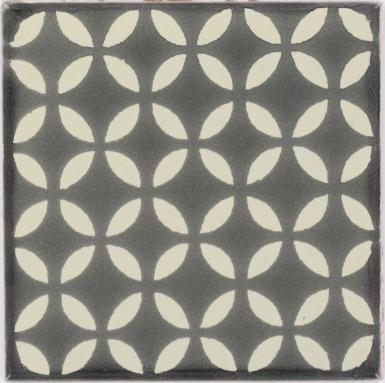 Gray Petals Dolcer Ceramic Tile