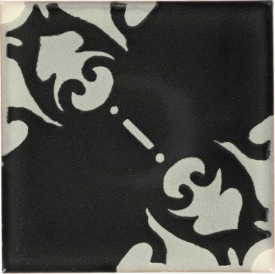 Quarter Black Vienna Dolcer Ceramic Tile