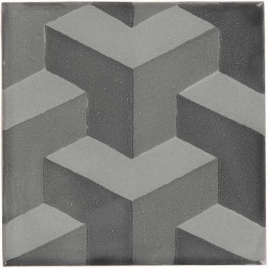 Tumbling Blocks 2 Dolcer Ceramic Tile