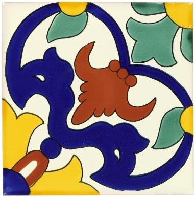 Carnaval Sevilla Handmade Ceramic Floor Tile
