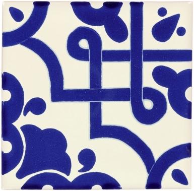 Mosaico Azul Sevilla Handmade Ceramic Floor Tile