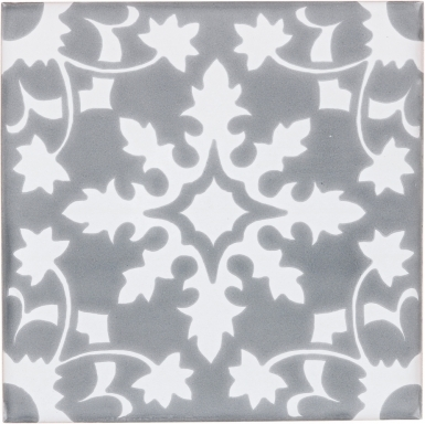 Bucerias 2 with Snow White Sevilla Handmade Ceramic Floor Tile