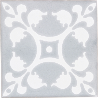 Palazzo 3 with Snow White Sevilla Handmade Ceramic Floor Tile
