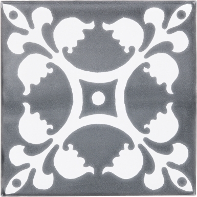 Palazzo 2 with Snow White Sevilla Handmade Ceramic Floor Tile