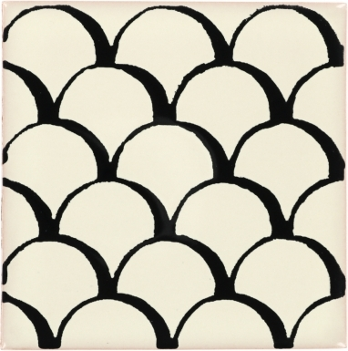 Black Scales Dolcer Ceramic Tile