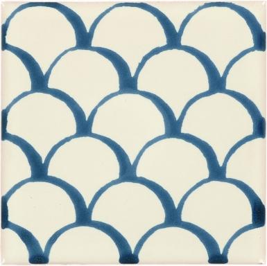 Teal Scales Dolcer Ceramic Tile
