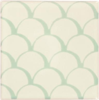 Mint Scales Dolcer Ceramic Tile