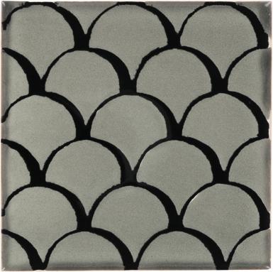 Black & Gray Scales Dolcer Ceramic Tile