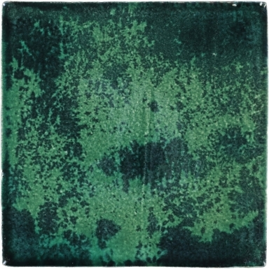 Mottled Green-Black Handmade Siena Vetro Ceramic Tile