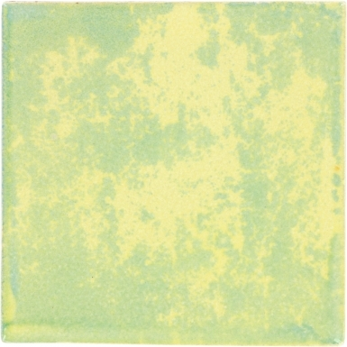 Mottled Light Blue-Yellow Handmade Siena Vetro Ceramic Tile