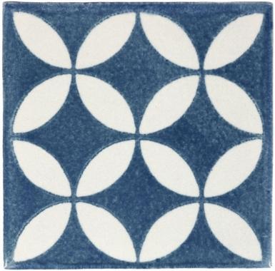 Prisme Teal Handmade Siena Vetro Ceramic Tile