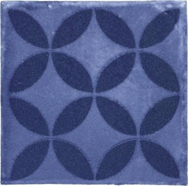 Prisme Blue Handmade Siena Vetro Ceramic Tile