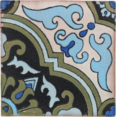 Quarter Algaba 3 Handmade Siena Ceramic Tile