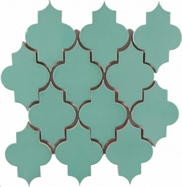 Mesh Mounted Mamounia - Light Teal Matte