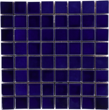 Mesh Mounted Square - Blue