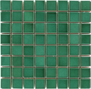 Mesh Mounted Square - Herbal Green